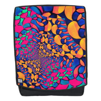 Psychedelic Trippy AbstrCustomisable Bookbag Backpack