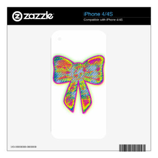 Psychedelic trippy Bow iPhone 4S Decals