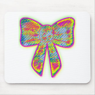 Psychedelic trippy Bow Mouse Pad