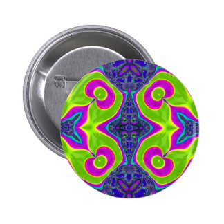 Psychedelic Trippy Pattern Button
