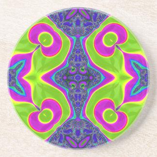 Psychedelic Trippy Pattern Drink Coaster