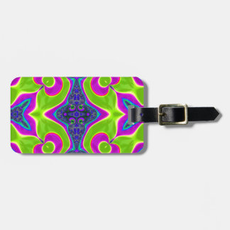 Psychedelic Trippy Pattern Tag For Luggage