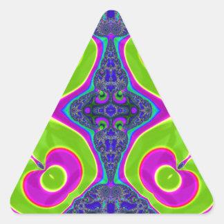 Psychedelic Trippy Pattern Triangle Sticker