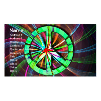 Psychedelic Trippy Peace Sign Business Card Template