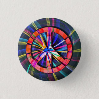 Psychedelic Trippy Peace Sign Button