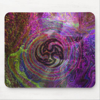 psychedelic triskel mouse pad