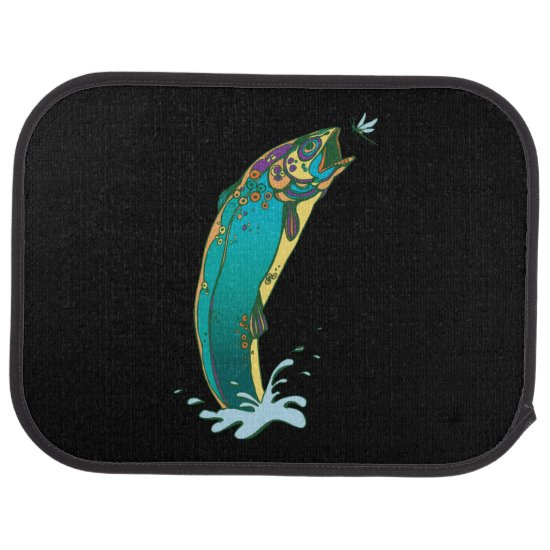 Psychedelic Trout Car Mat