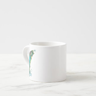 Psychedelic Trout Fishing Espresso Cup