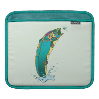 Psychedelic Trout Fishing iPad Sleeve