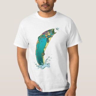 Psychedelic Trout Fishing T-Shirt