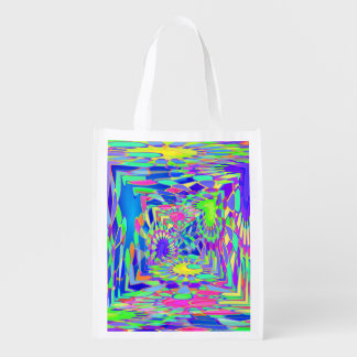 Psychedelic Tunnel Grocery Bag