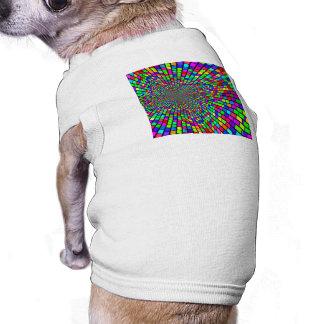 Psychedelic Tunnel of Blocks Dog Tshirt
