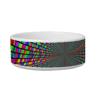 Psychedelic Tunnel of Blocks Pet Bowl