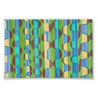 Psychedelic turquoise green Swirls Poster