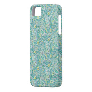 Psychedelic Turquoise Paisley Pattern iPhone 5 Cas iPhone 5 Cases