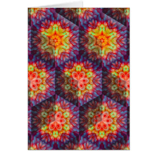 Psychedelic Turtle shell Card