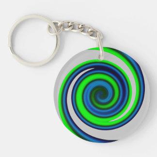 psychedelic twirl keychain