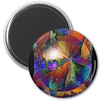 Psychedelic Twister 2 Inch Round Magnet