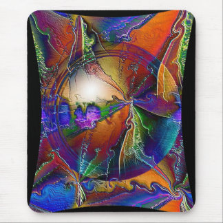 Psychedelic Twister Mouse Pad