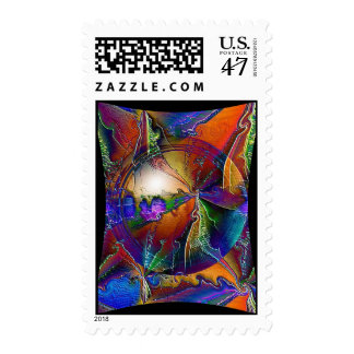 Psychedelic Twister Postage Stamp