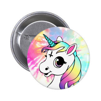 Psychedelic Unicorn Pinback Button
