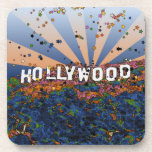 Psychedelic USA - Hollywood Sign A1 Drink Coaster
