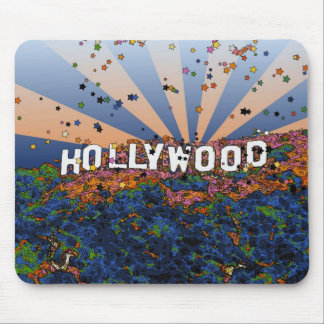 Psychedelic USA - Hollywood Sign A1 Mousepad