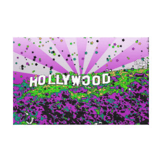 Psychedelic USA - Hollywood Sign A2 Gallery Wrap Canvas