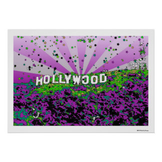 Psychedelic USA - Hollywood Sign A2 Print
