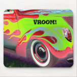 psychedelic vintage car closeup mouse pad