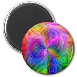 Psychedelic Vision 2 Inch Round Magnet