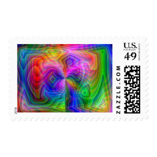 Psychedelic Vision Postage Stamp