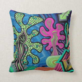 Psychedelic Visions Throw Pillow