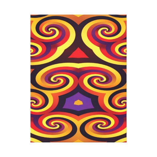 PSYCHEDELIC WALL ART Wrapped Canvas Canvas Prints