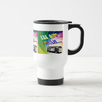 Psychedelic Wave Travel Mug