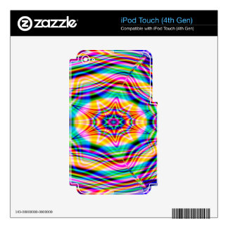 Psychedelic Waves: Decal For iPod Touch 4G