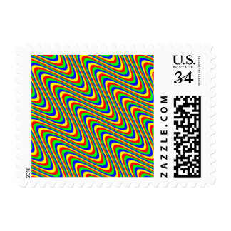 Psychedelic Waves Postage