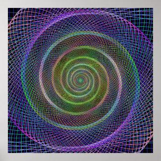 Psychedelic Webbed Spiral Poster