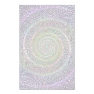 Psychedelic Webbed Spiral Stationery