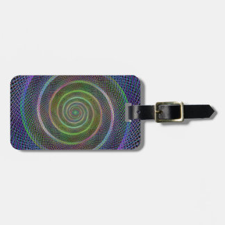 Psychedelic Webbed Spiral Tag For Luggage