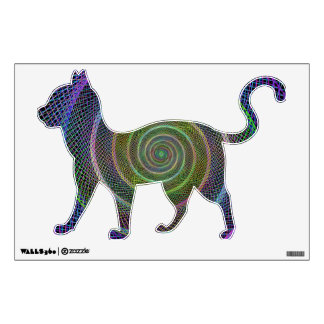 Psychedelic Webbed Spiral Wall Sticker