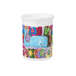 Psychedelic Whale Drink Pitcher