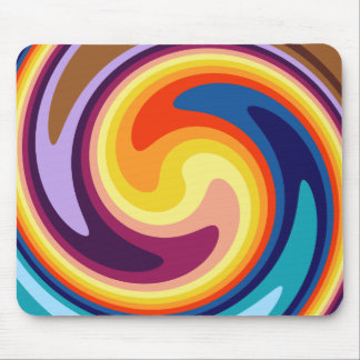 Psychedelic whirl mouse pad