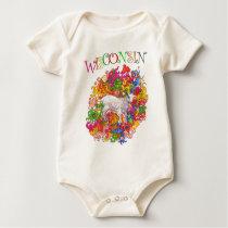 Psychedelic Wisconsin Goatling Baby Bodysuit