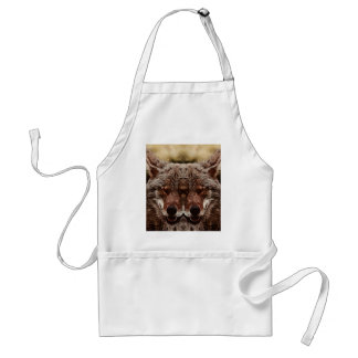 Psychedelic Wolf Adult Apron