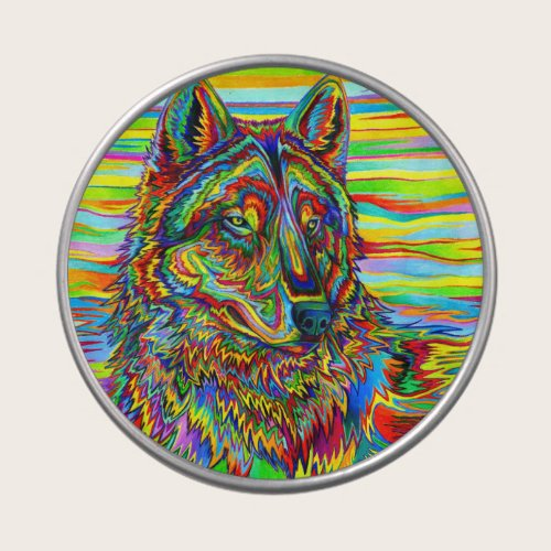 Psychedelic Wolf Candy Tin