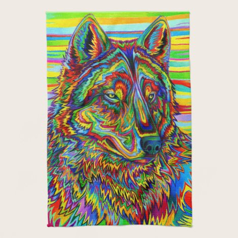 Psychedelic Wolf Kitchen Towels