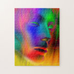 Psychedelic Woman Face Jigsaw Puzzles