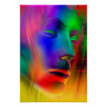 Psychedelic Woman Face Poster