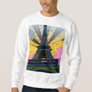 Psychedelic World: Eiffel Tower, Paris France A1 Pull Over Sweatshirt